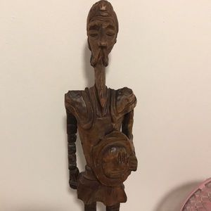 Vintage 19in Don Quixote wood carving